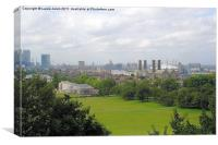 London view from Greenwich, Canvas Print