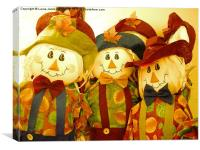 Autumn Scarecrows, Canvas Print