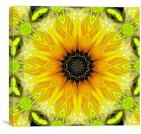 Kaleidoscope Sunflower, Canvas Print