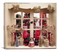 Christmas Window, Canvas Print