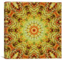 Tinsel Kaleidoscope, Canvas Print