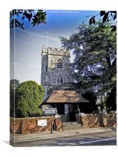 St Mary's Church, Horsell,, Canvas Print