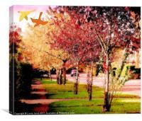 A drive in Autumn, Canvas Print