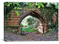 Himley Park Archway, Canvas Print