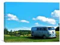 Volkswagen Split Screen Camper Van, Canvas Print