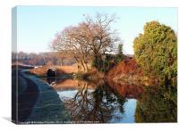 Hinksford Lock Bridge #2, Canvas Print