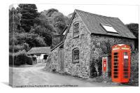 Red phone box Church Stretton Shropshire