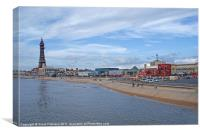 Blackpool Seafront, Canvas Print