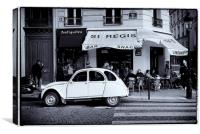 Citroen 2CV in Paris, Canvas Print