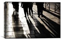 A Walk in Paris, Canvas Print