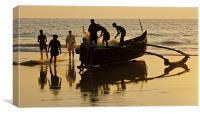 Goan Fishermen, Canvas Print