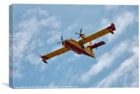 Seaplane in Majorca, Canvas Print