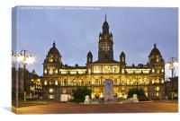 City Chambers In George Square, Canvas Print