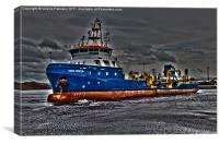 Working Dredger, Canvas Print