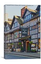 Stratford Upon Avon Timber Building, Canvas Print