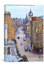 The Royal Mile, Canvas Print