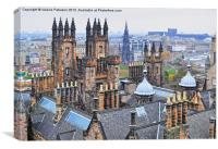 Edinburgh Rooftops, Canvas Print