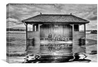 Shelter In The Floods B&W, Canvas Print