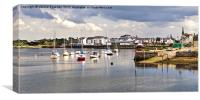 Irvine Harbour, Canvas Print