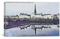 Fractal Ayr Town Centre, Canvas Print