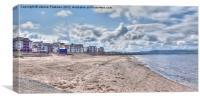 Welcome To Ayr Beach, Canvas Print