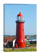 Lighthouse In Newcastle, Canvas Print