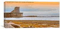 Saltcoats  Bay, Canvas Print