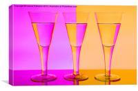 Pink n Peach Wine Glasses, Canvas Print