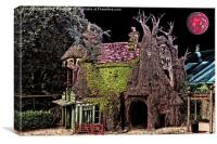 Haunted Tree House, Canvas Print