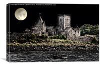 Inchcolm Abbey, Canvas Print