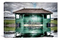 Millport Shelter In The Floods, Canvas Print
