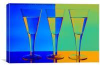 Blue & Orange Wine Glasses, Canvas Print