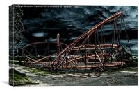 Rollercoaster Ride, Canvas Print