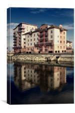 Ayr Harbourside Luxury Flats, Canvas Print