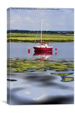 Solitary At Irvine Harbour, Canvas Print