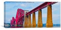 Forth Rail Bridge South Queensferry, Canvas Print