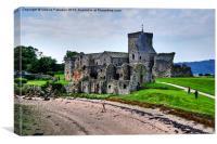 Inchcolm Island Medieval Abbey, Canvas Print