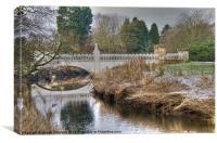 Lugton Water & Tournament Bridge, Canvas Print