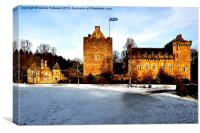 Dean Castle in Winter, Canvas Print