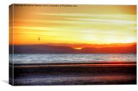 Irvine Beach Sunset, Canvas Print