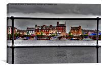 Peek At Ayr Harbour, Canvas Print