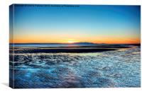 Sunset over Arran, Canvas Print