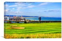 Golf At Aberdeen Harbour, Canvas Print
