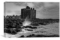 Portencross Castle, Canvas Print