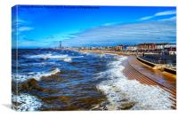 Blackpool Beach, Canvas Print