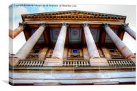 Pillars of Paisley Townhall, Canvas Print