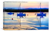 Last Light on Irvine Harbour, Canvas Print