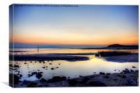 Irvine Beach Sunset, Canvas Print