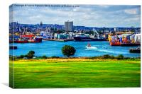 Aberdeen Harbour Mouth, Canvas Print