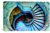 Swirl Staircase, Canvas Print